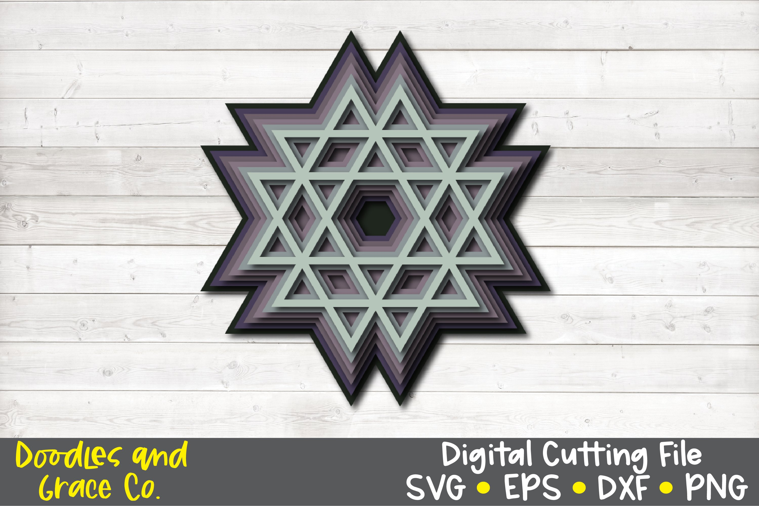 3D Layered Mandala Bundle - SVG - PNG - EPS - DXF example image 2