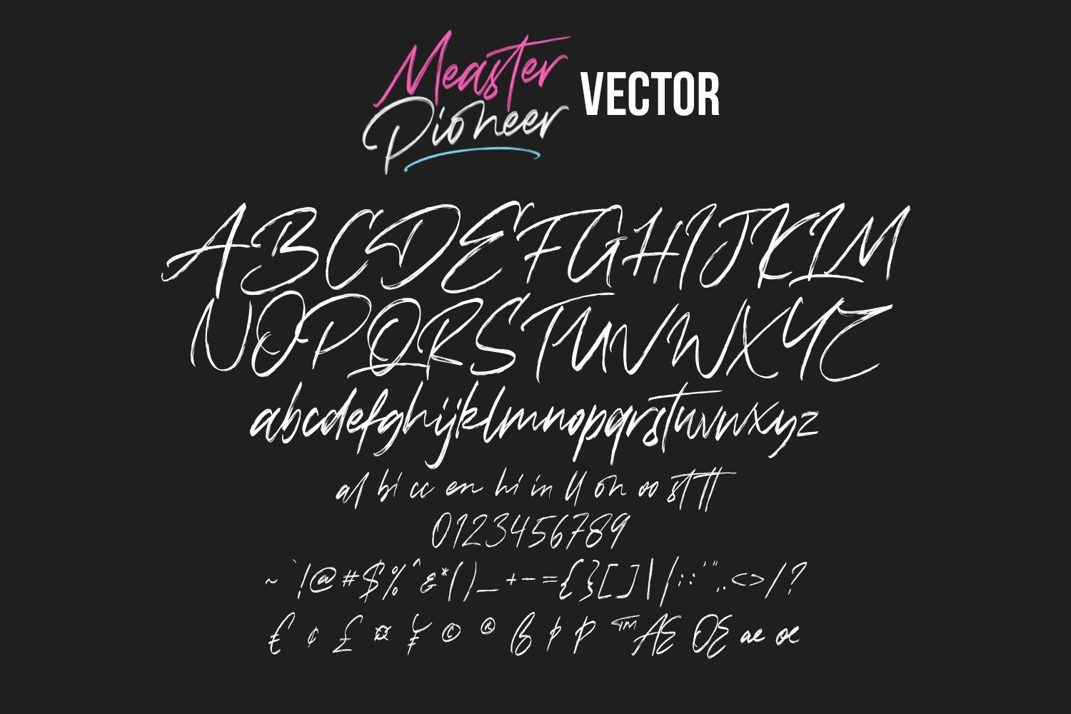 Measter Pioneer SVG Brush Font example image 9