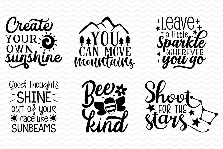 Inspirational and Motivational SVG bundle example image 4