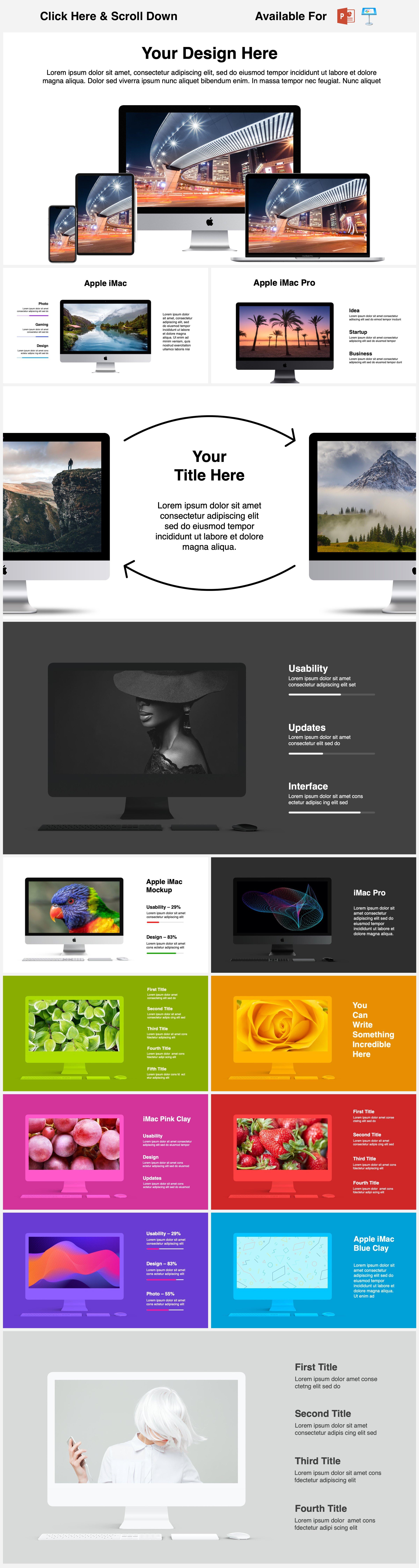 Animated Mockups Presentation Bundle. Infographic Templates. example image 5