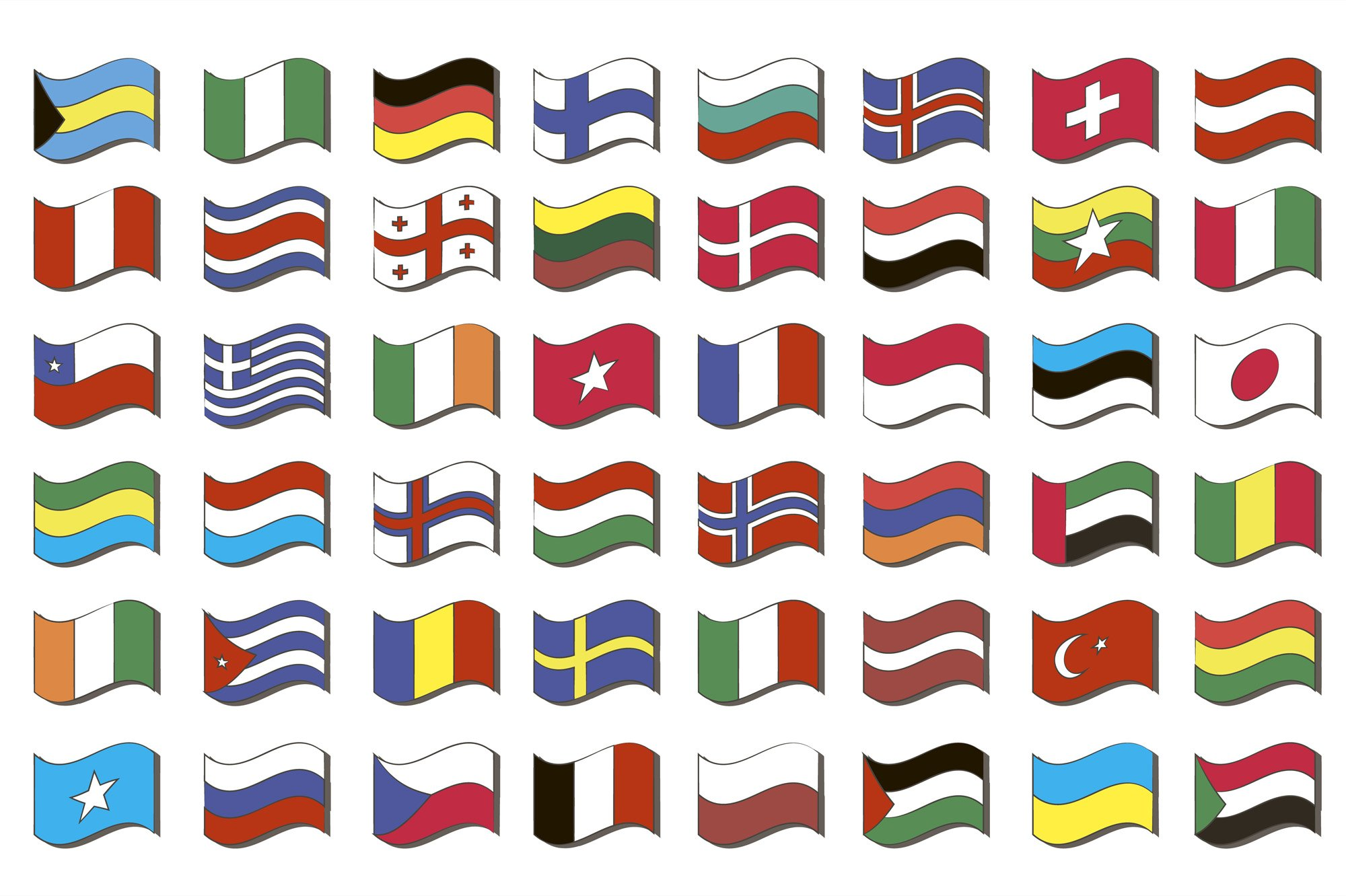 Set of world flags example image 1
