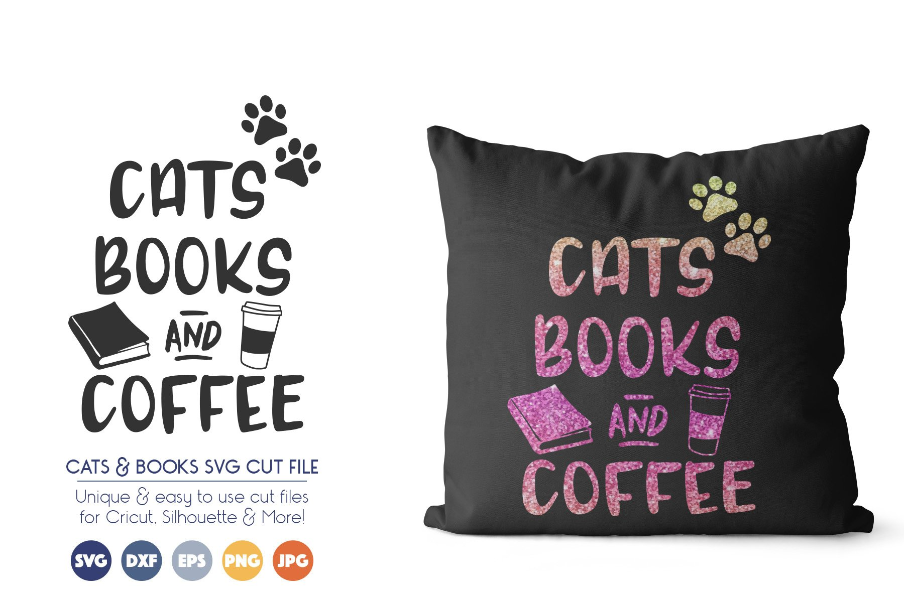 Reading SVG Files - Cats, Books and Coffee example image 1
