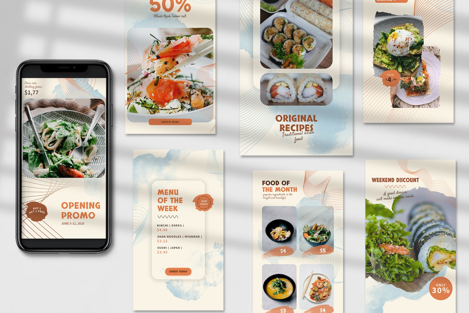Asian Food Instagram Stories Template example image 4