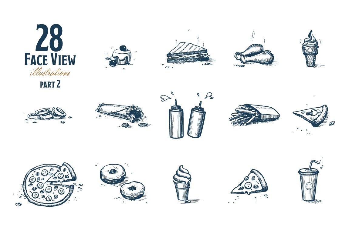 Fast Food Hand Draw Illustration Set example image 5