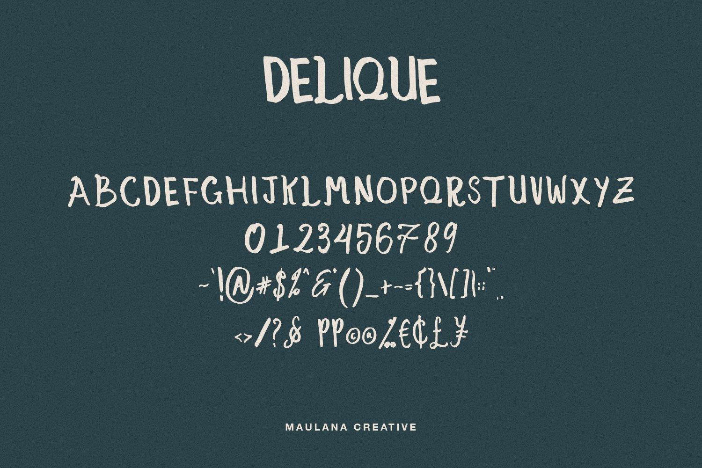 Delique Handmade Type example image 8