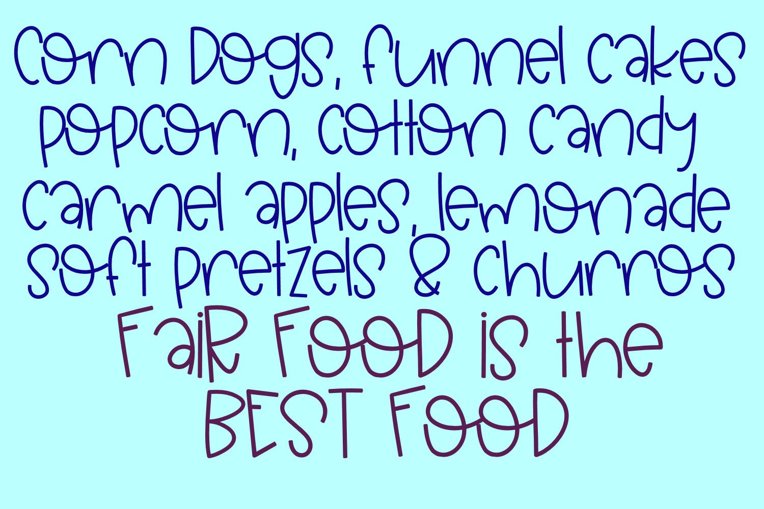 Funnel Cakes Font example image 2