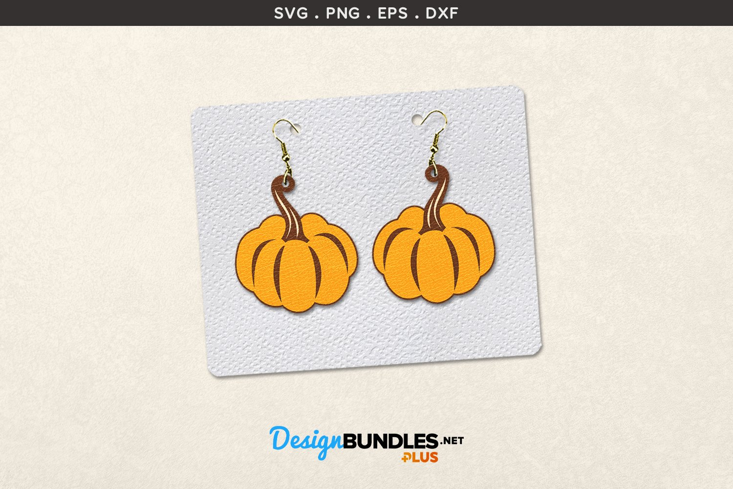 Autumn Earrings Template | Pumpkins example image 1