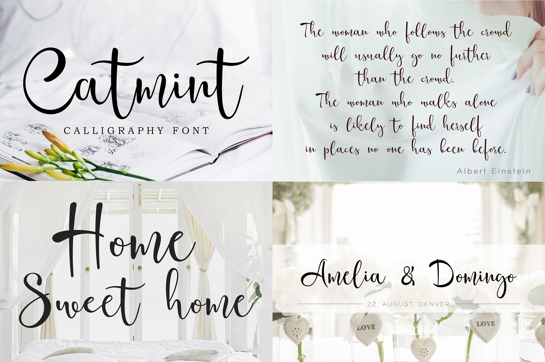 Font bundle - 6 handwritten and calligraphy fonts example image 2
