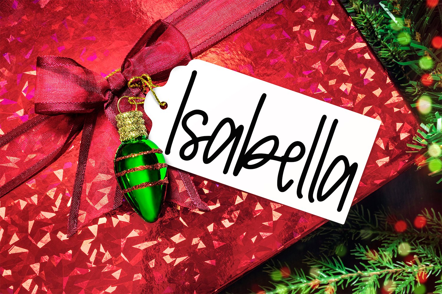 Holiday Lights - A Hand-Lettered Christmas Font example image 3