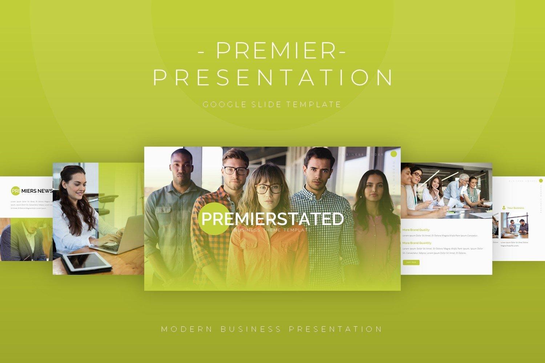 Premierstated - Google Slide Template example image 1