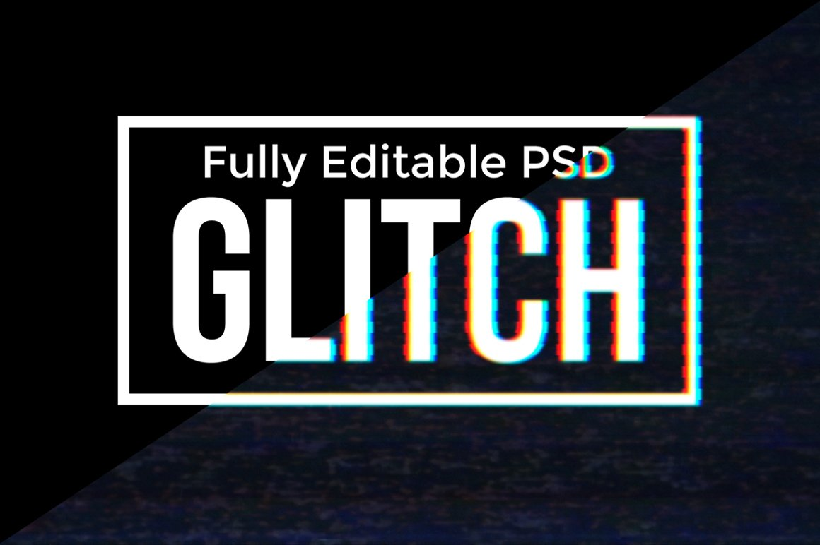 Glitch - Photoshop PSD Text Effect example image 2