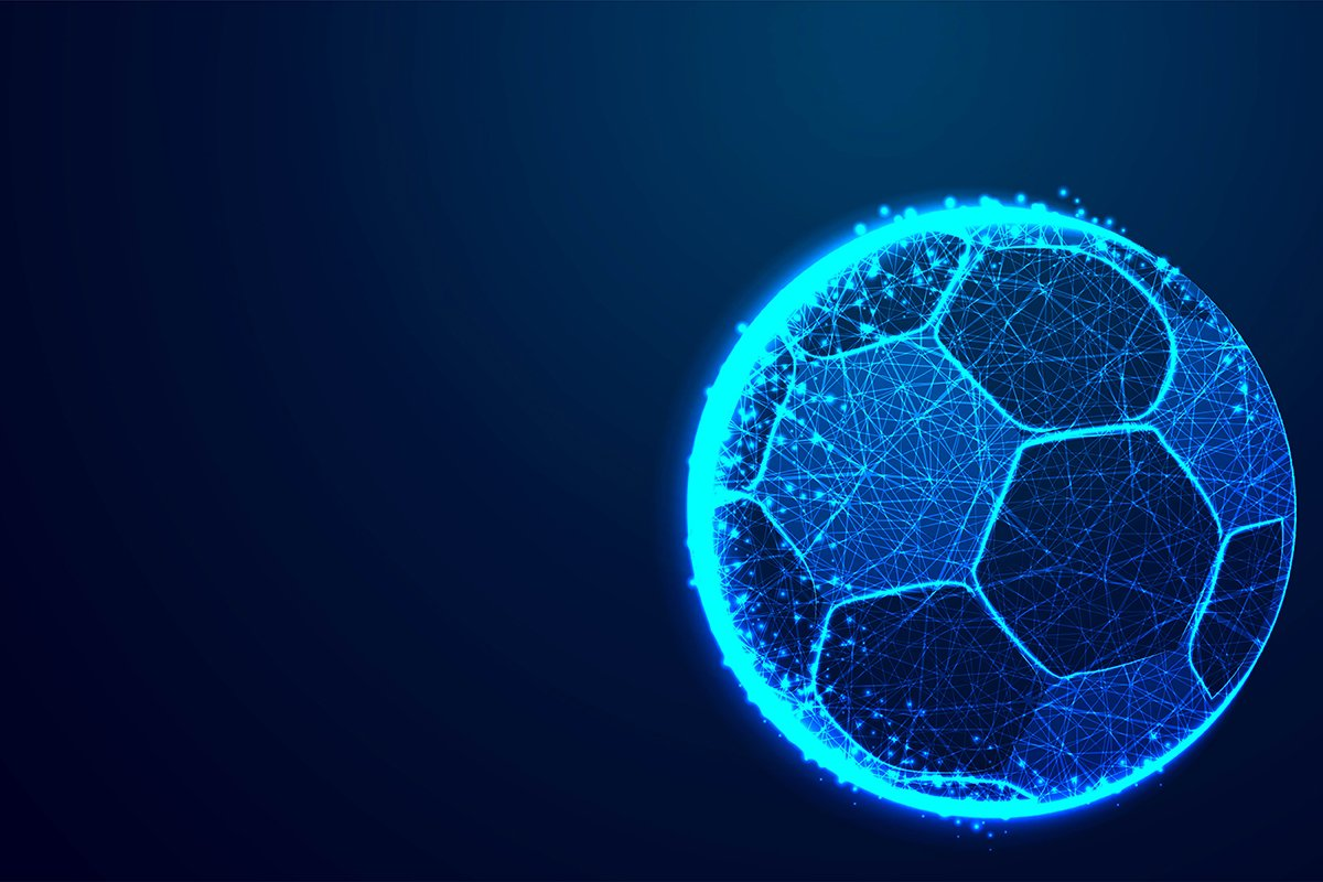 ball, football team, Abstract low poly, Triangle, dot, line, example image 1