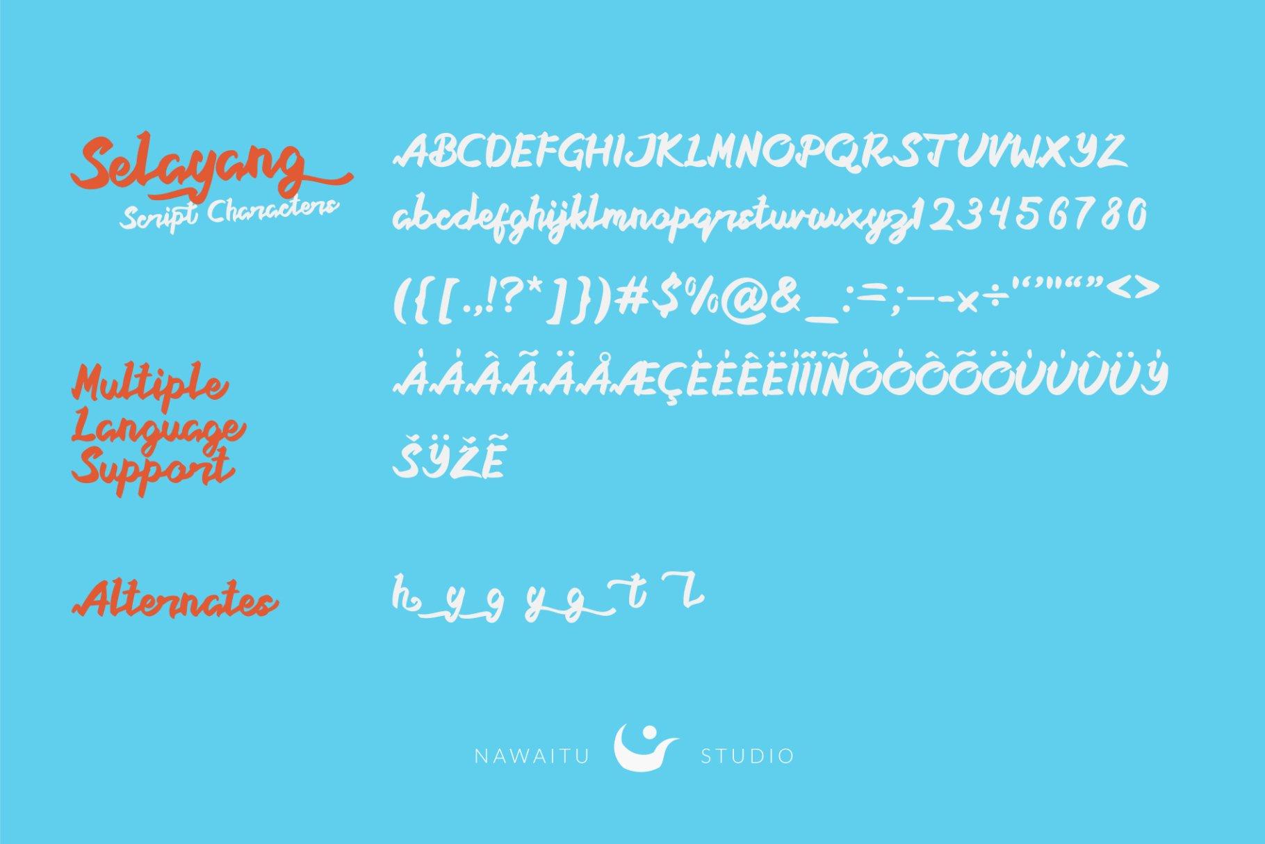 Selayang Script example image 3