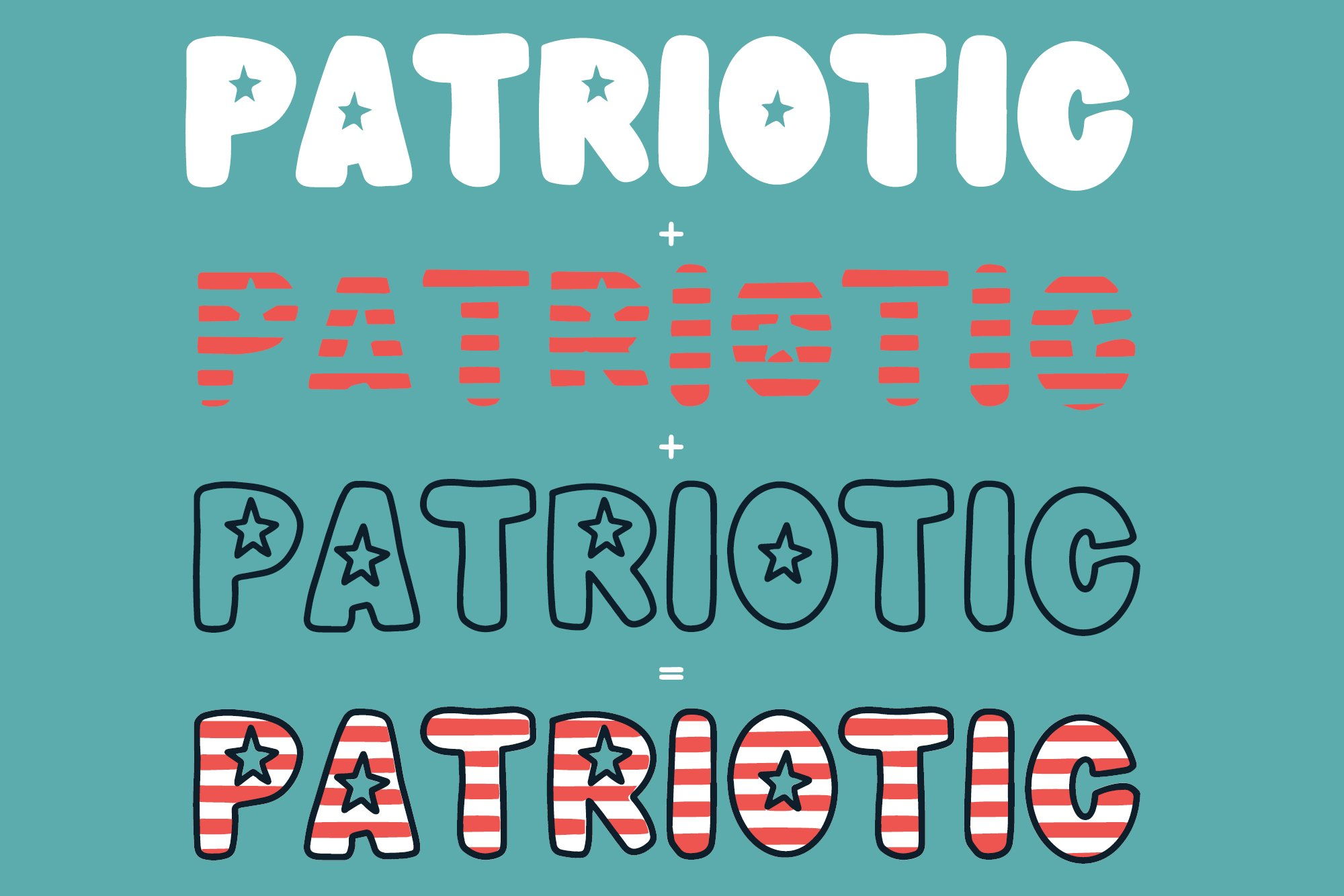 Meowica | A 4th of July Font Family example image 5