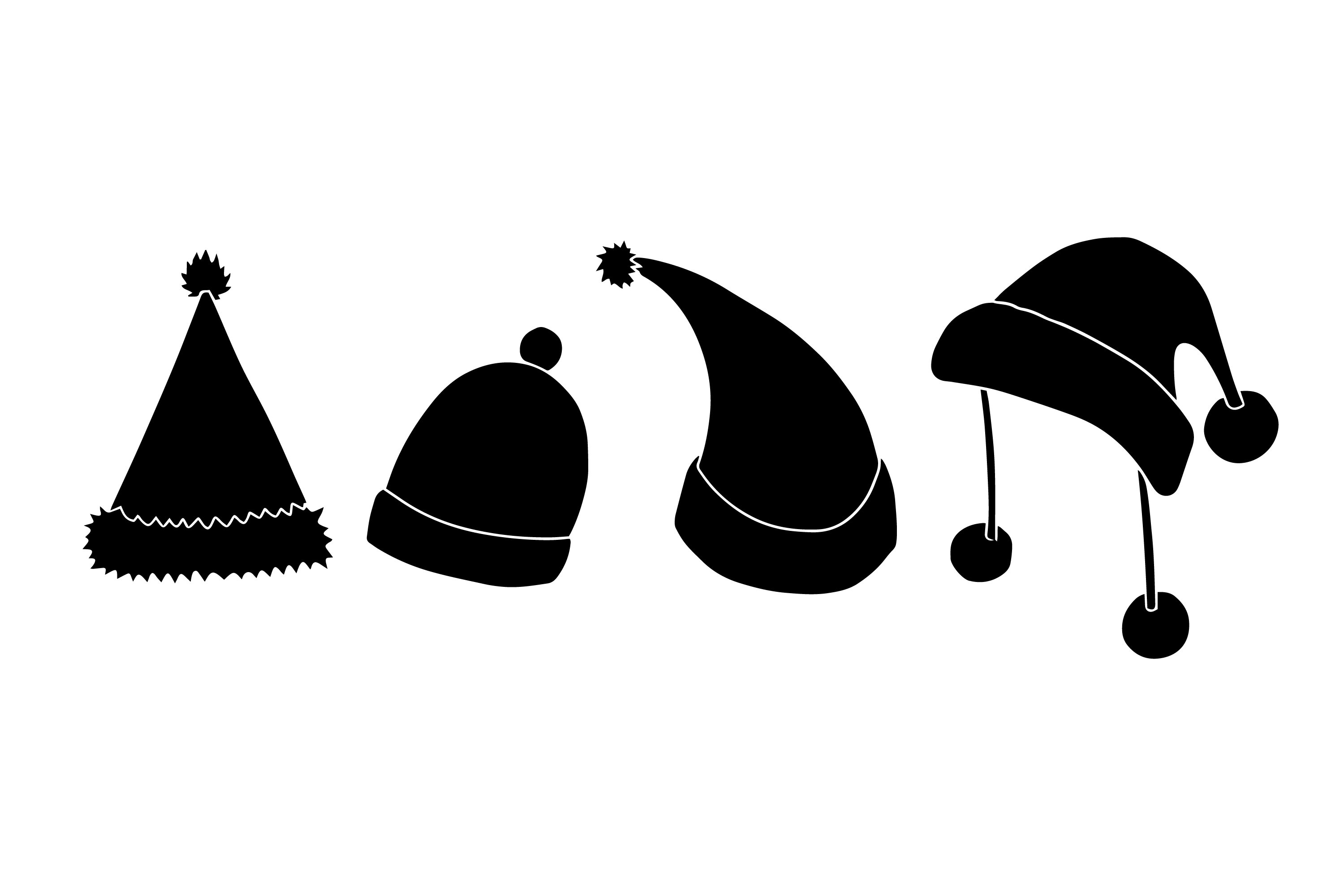 Santa Hat Silhouettes example image 1