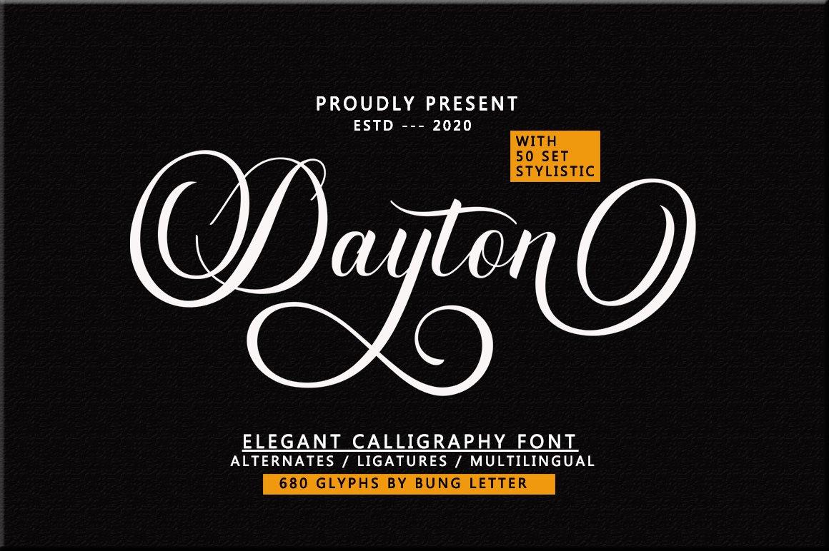 Dayton - Elegant Calligraphy example image 1
