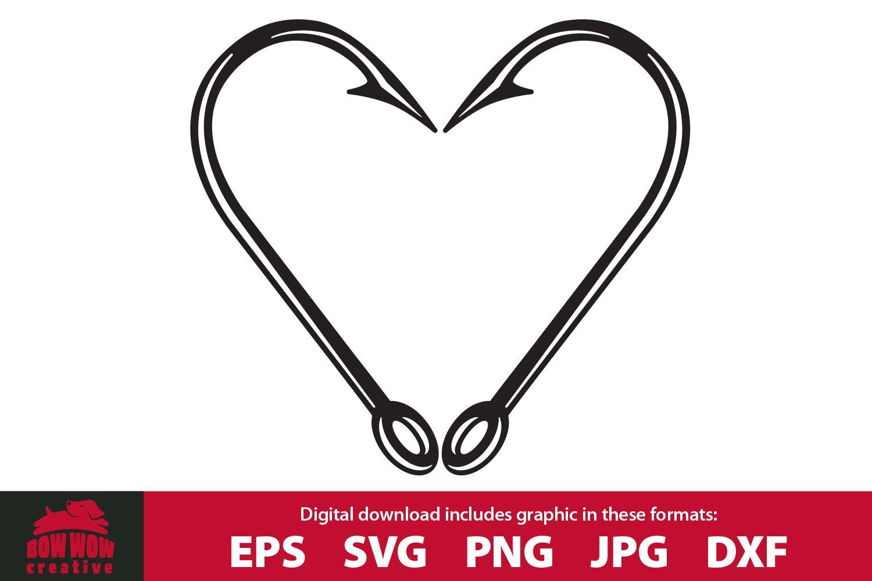 Download Fish Hook Heart Fishing Svg Cutting File Clipart 600675 Cut Files Design Bundles