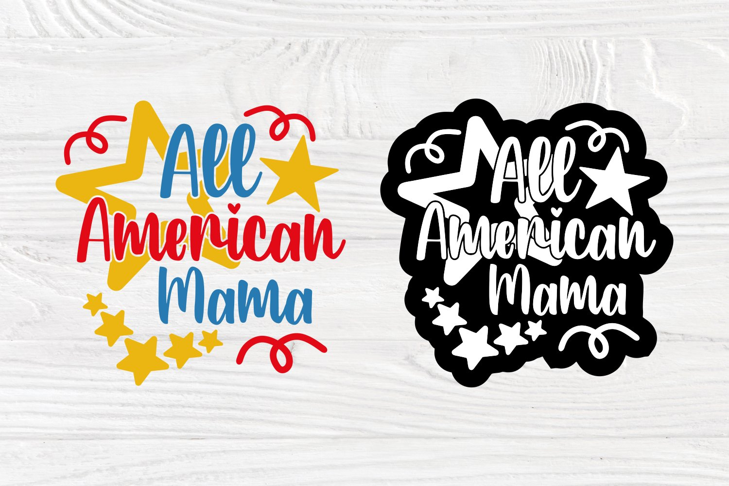 Patriotic SVG All American cut file for Cricut and SIlhouette