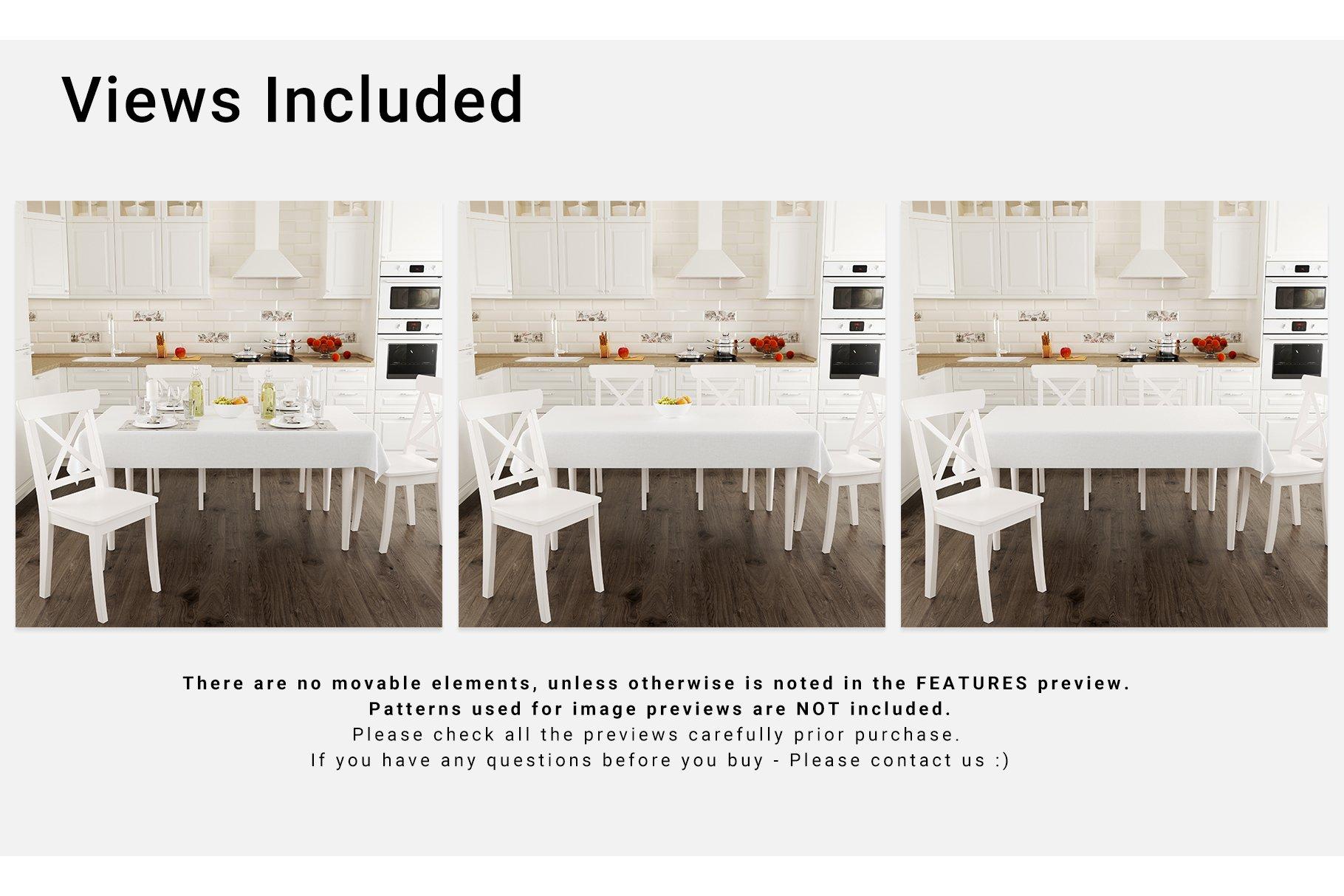 Kitchen Tablecloth 3D Mockup Set example image 8