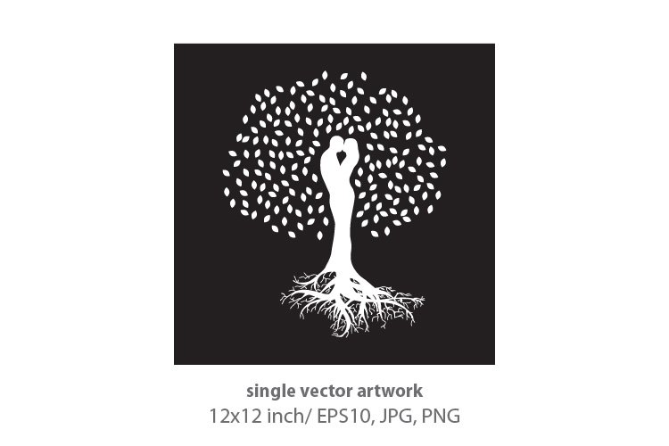 LOVERS TREE- single vector artwork example image 1