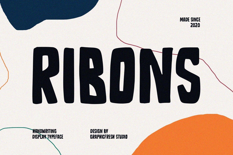 Ribons - A Handwriting Display Font example image 1