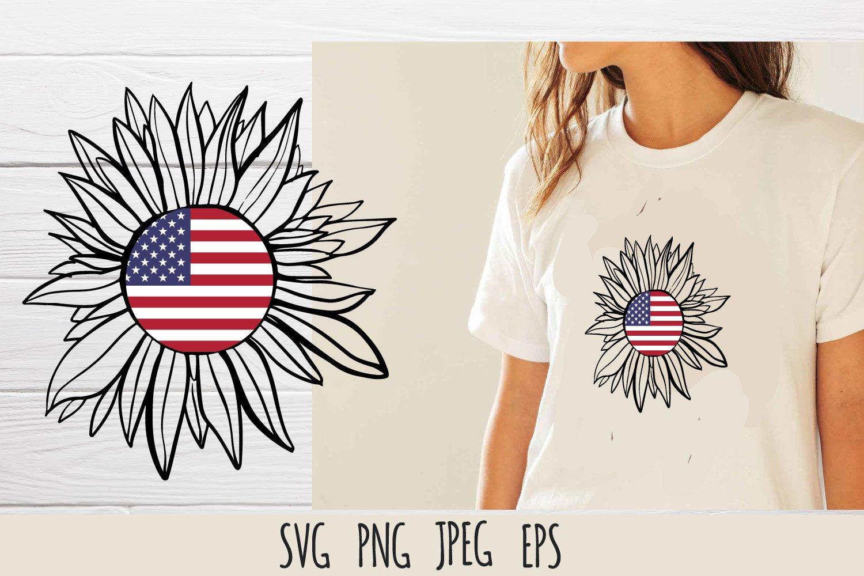 Patriotic sunflower SVG cut file bundle example image 7
