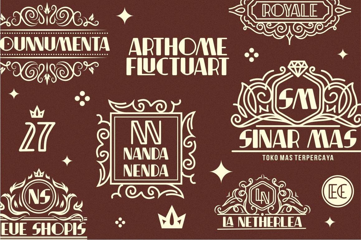 Indentia - Art Deco Typeface example image 7