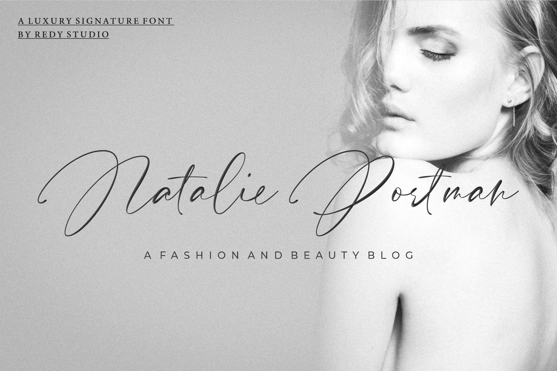 Pardone   Luxury Signature Font example image 3