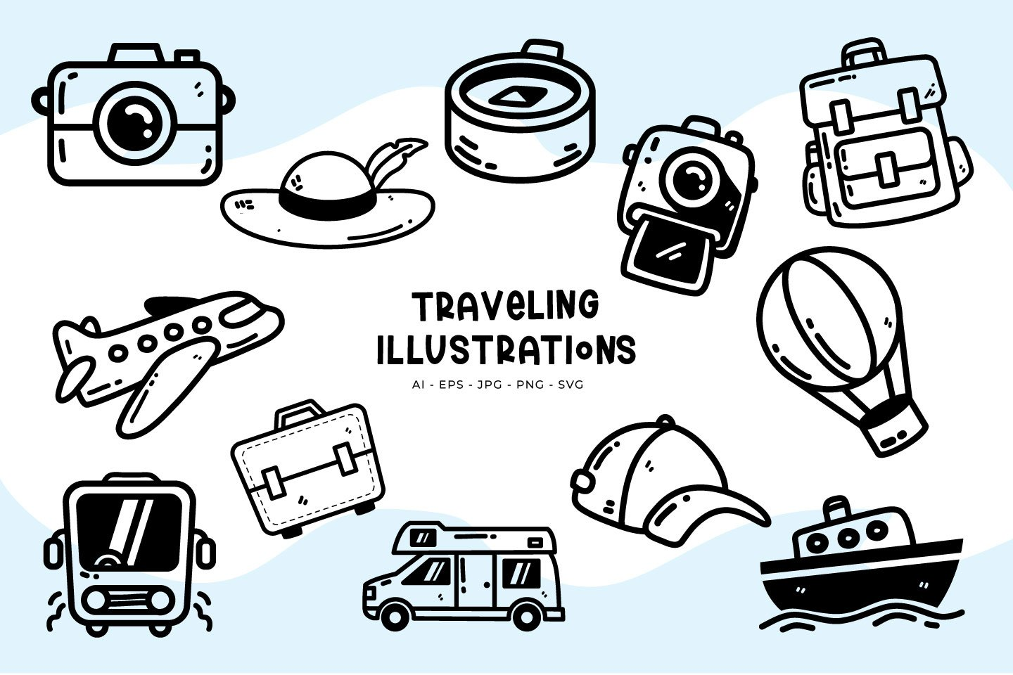 Traveling illustrations example image 1