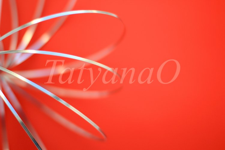 Disfocused blurred red and silver texture paper background. example image 1