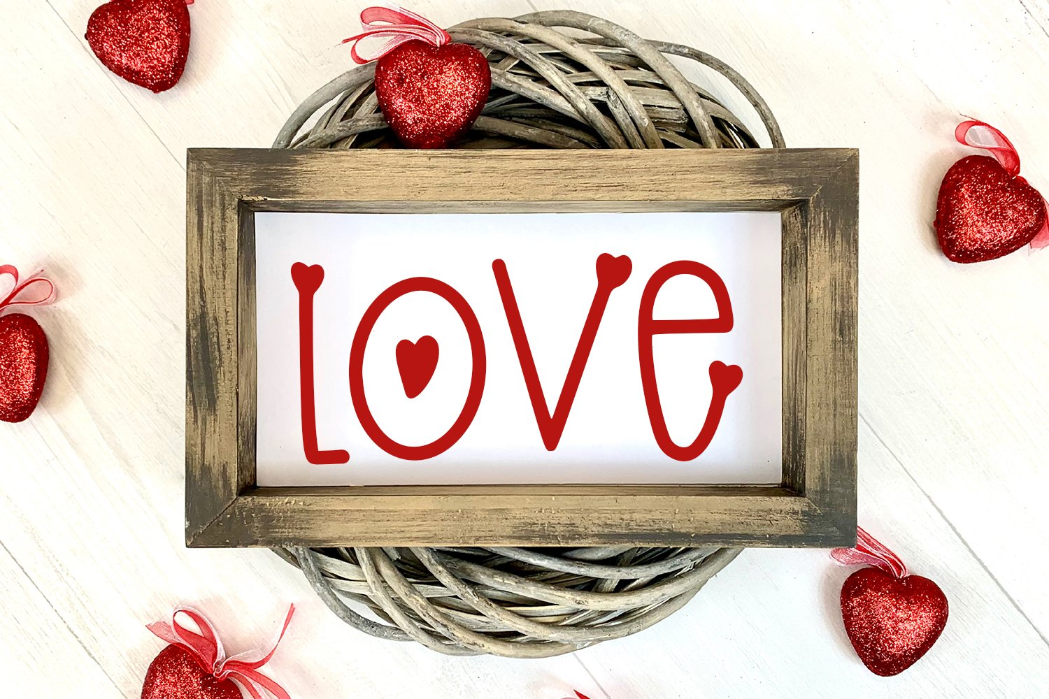 Blow A Kiss - A Hand-Lettered Valentine's Day Font example image 4
