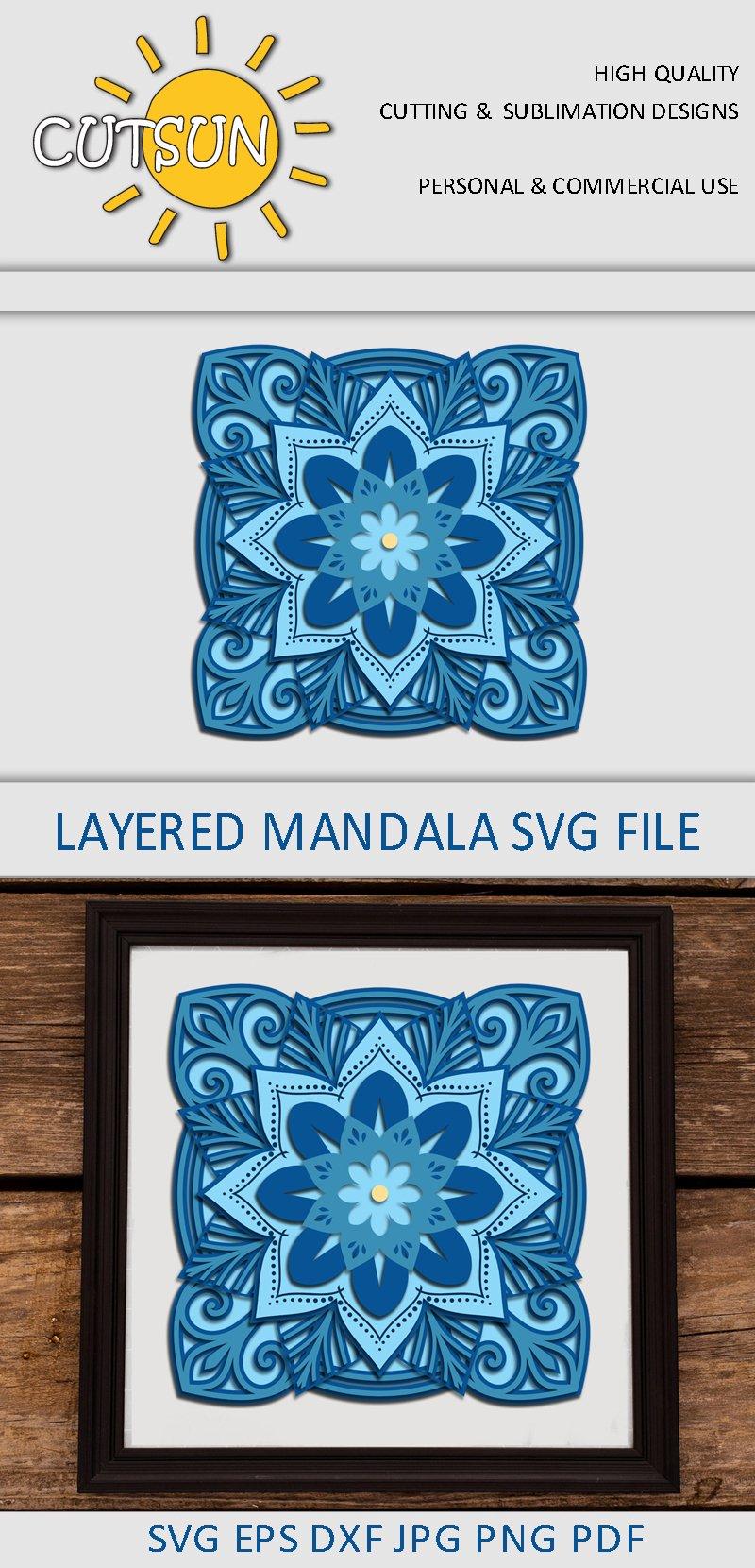 Download 3D layered Square Mandala SVG 11 layers (518542) | Cut ...