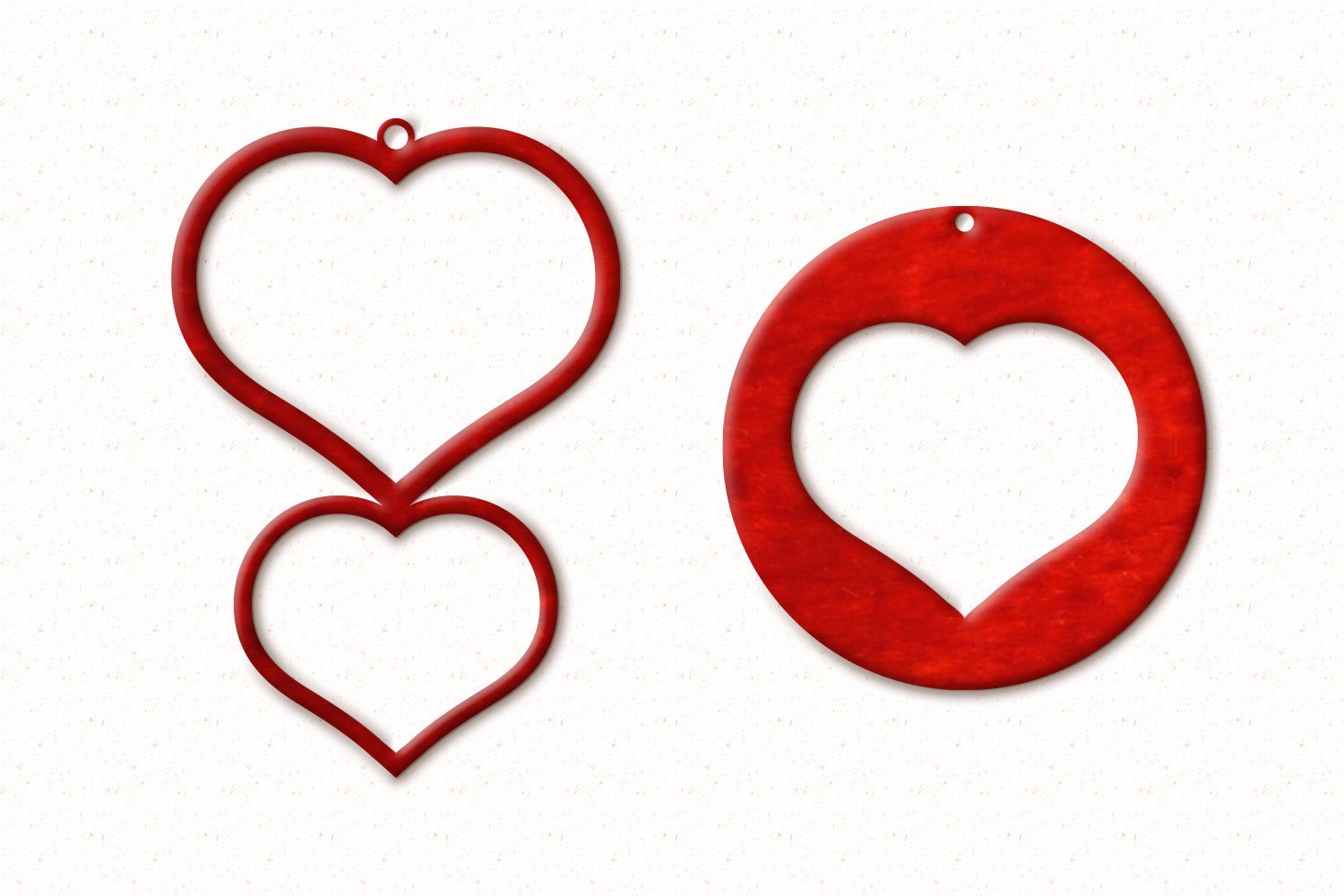 Valentine Earrings SVG example image 5