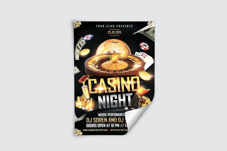 Casino Night Flyer 1 example image 4