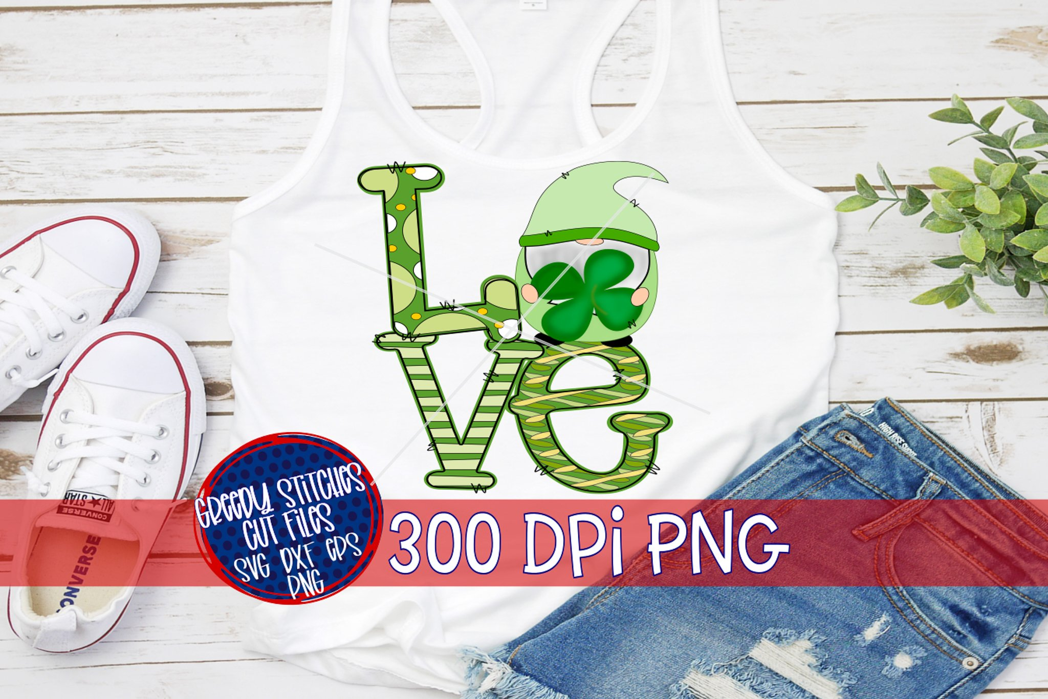 Download St. Patrick's Day | LOVE Gnome Shamrock Clover PNG For Sub ...