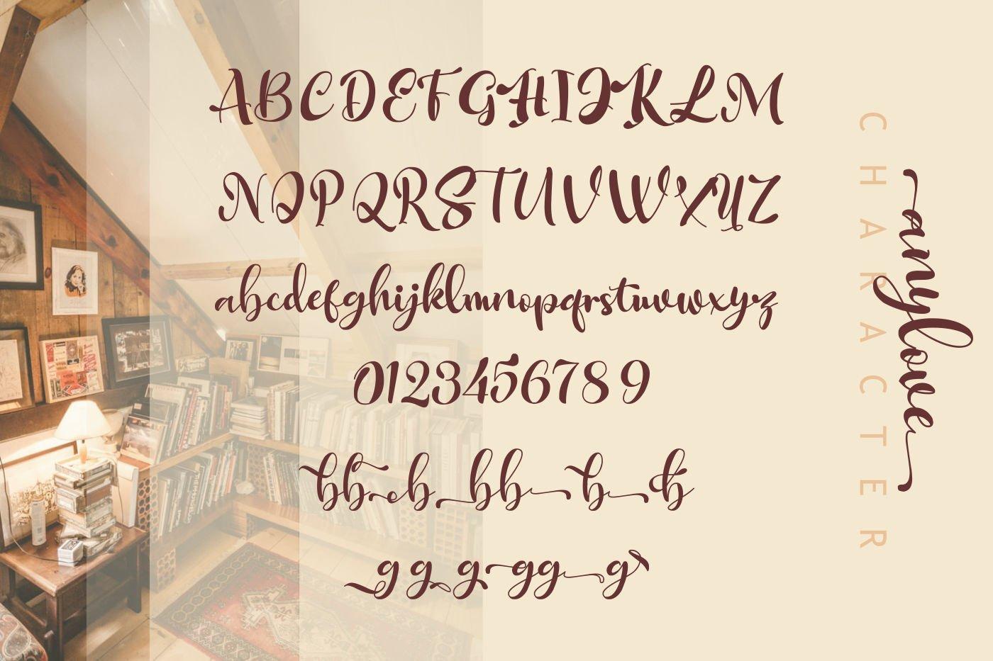 Anylove | modern scriptFont dou example image 2