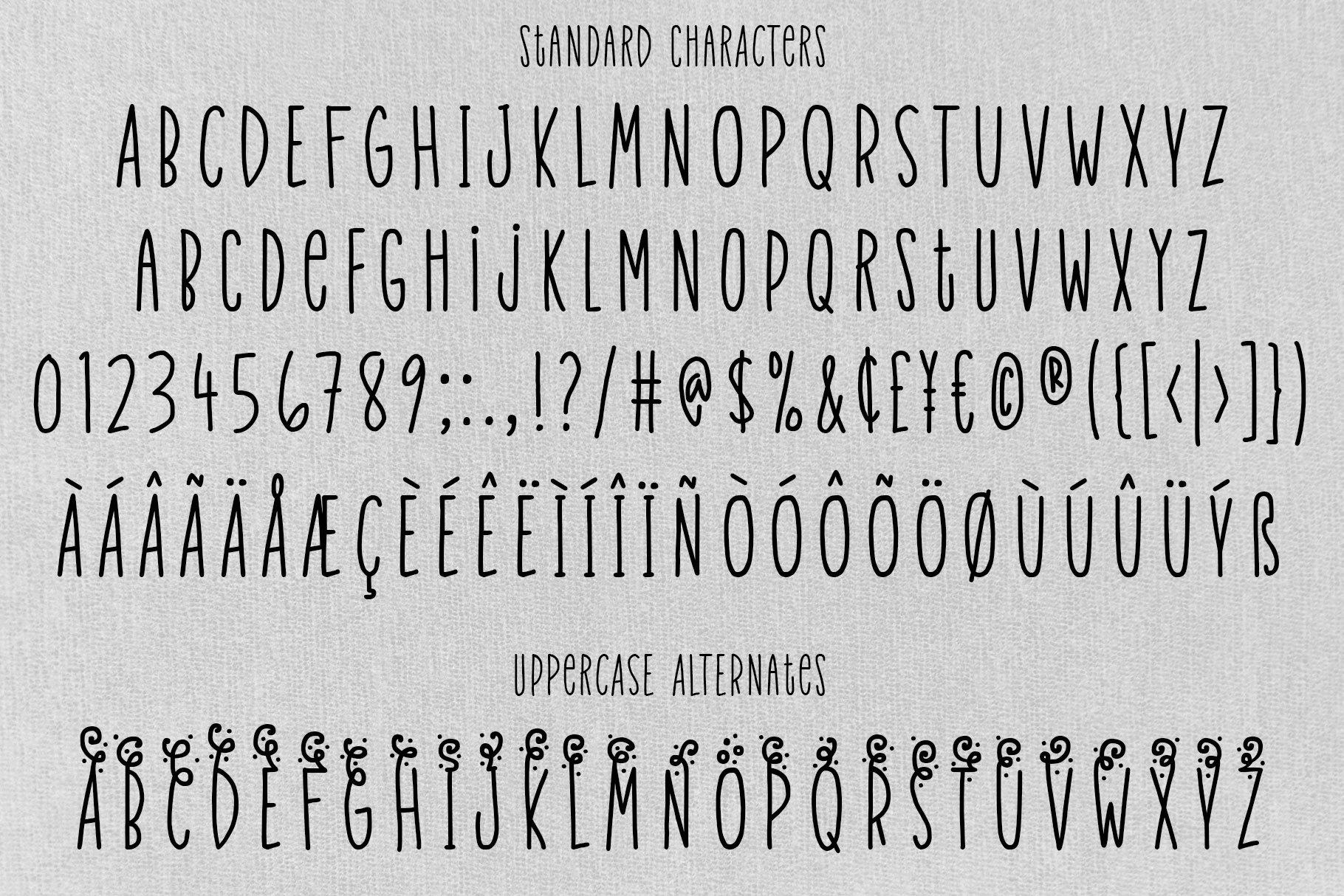 Velvet Pants - a tall, narrow caps font! example image 2