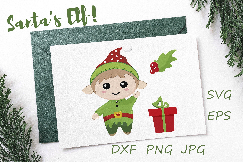 Vector Svg Santa S Elf Set Christmas Illustration 1035611 Illustrations Design Bundles
