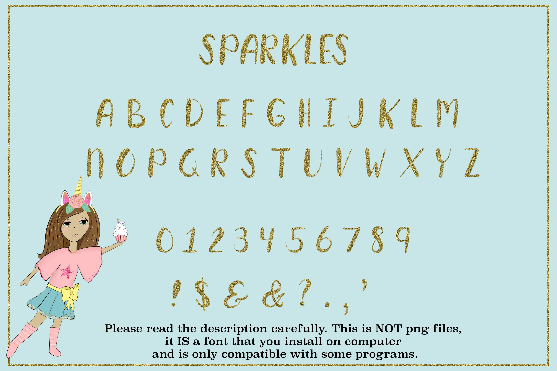 Sparkles, glitter font, glitter letters example image 3