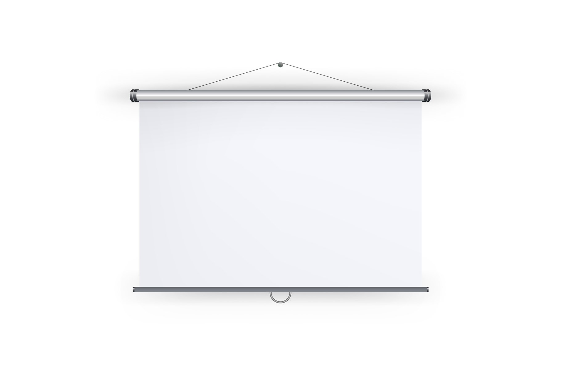 Meeting Projector Screen Vector. Blank White Board To example image 1