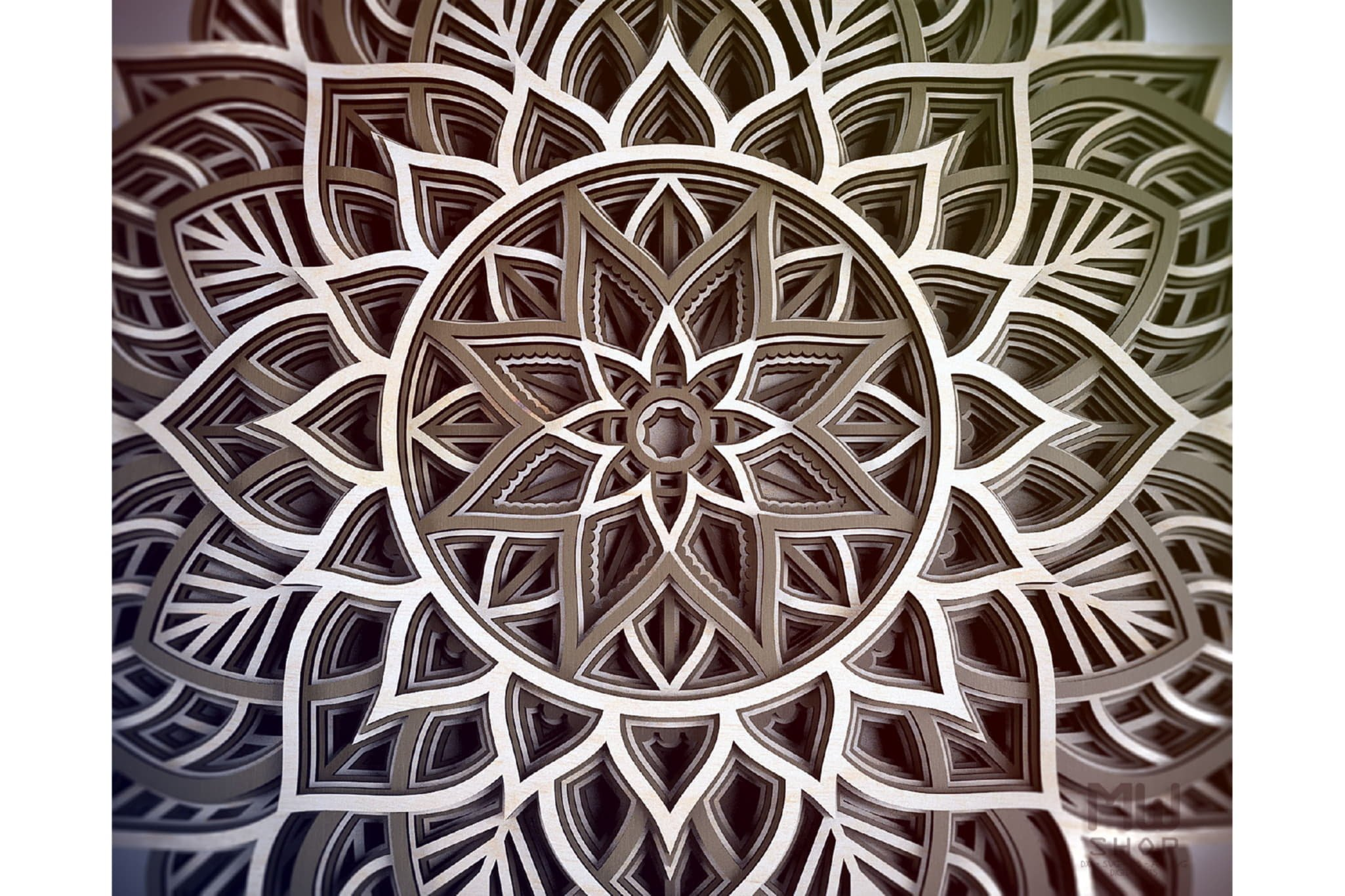 M98 - Flower Mandala DXF, Layered Mandala SVG for Cricut example image 10