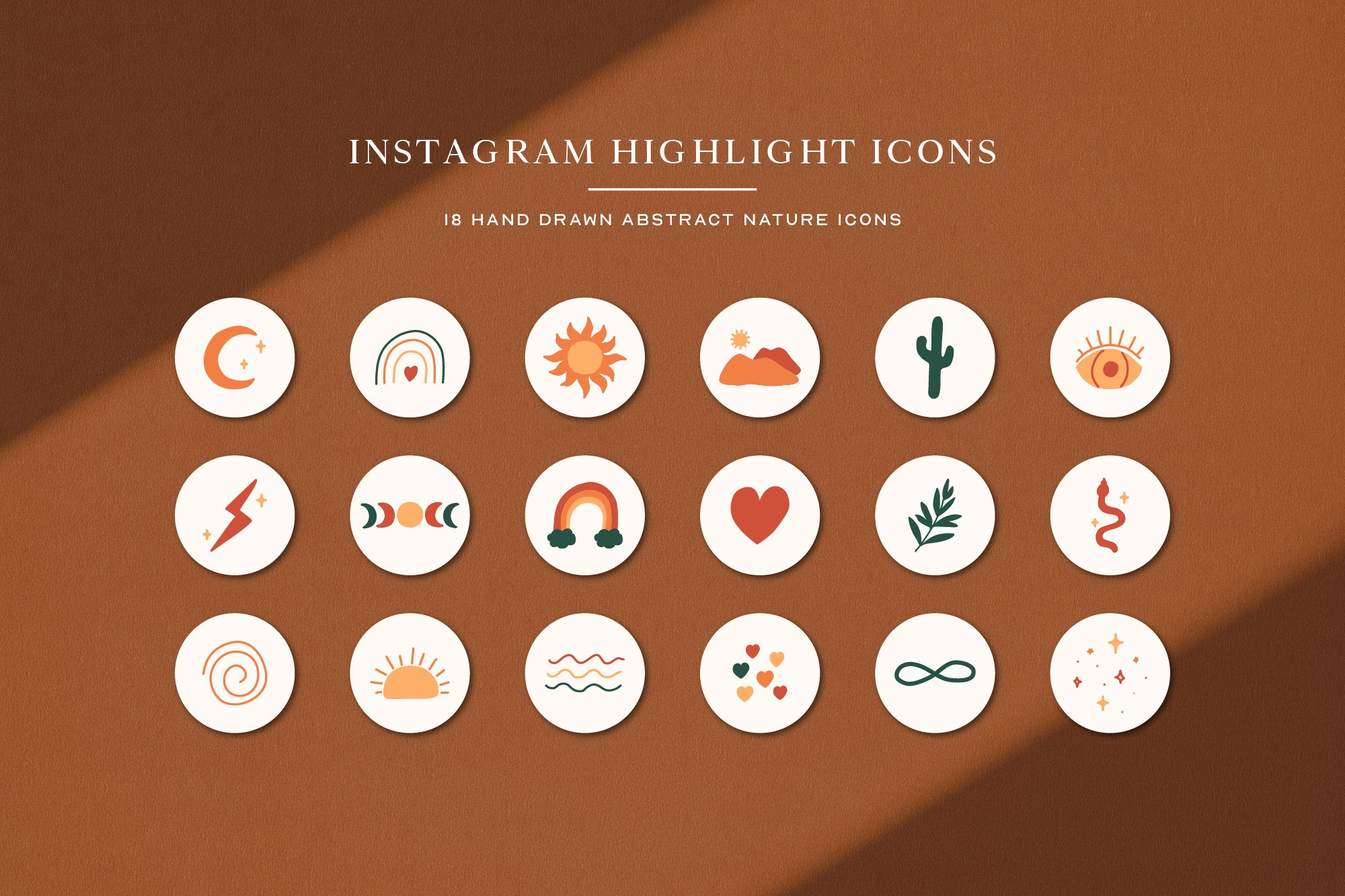 Instagram Abstract Highlights Icons   Instagram Story Covers example image 2