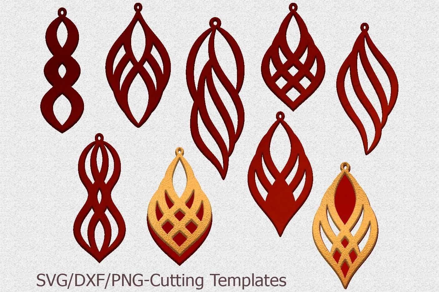 Diamond Earring SVG Diamond Pendant svg Leather Earring Jewelry Laser Cut Template Commercial Use Diamond Tear drop Vector DXF
