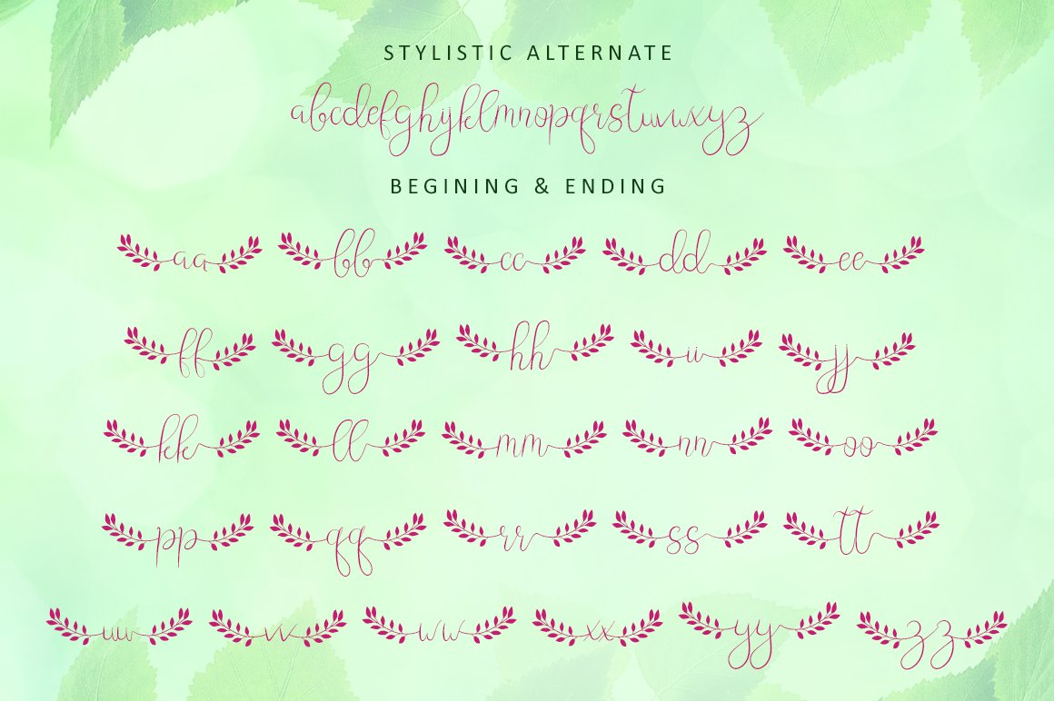 Leafing - Modern Script Font with 3 alternates example image 7