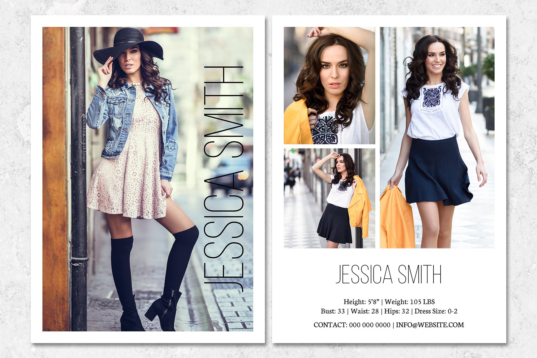 Fashion Model Comp Card Template (21)  Card and Invites Throughout Comp Card Template Download