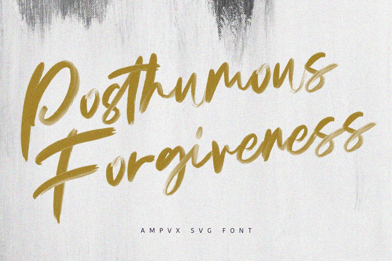 AMPVX SVG Brush Font Free Sans example image 5