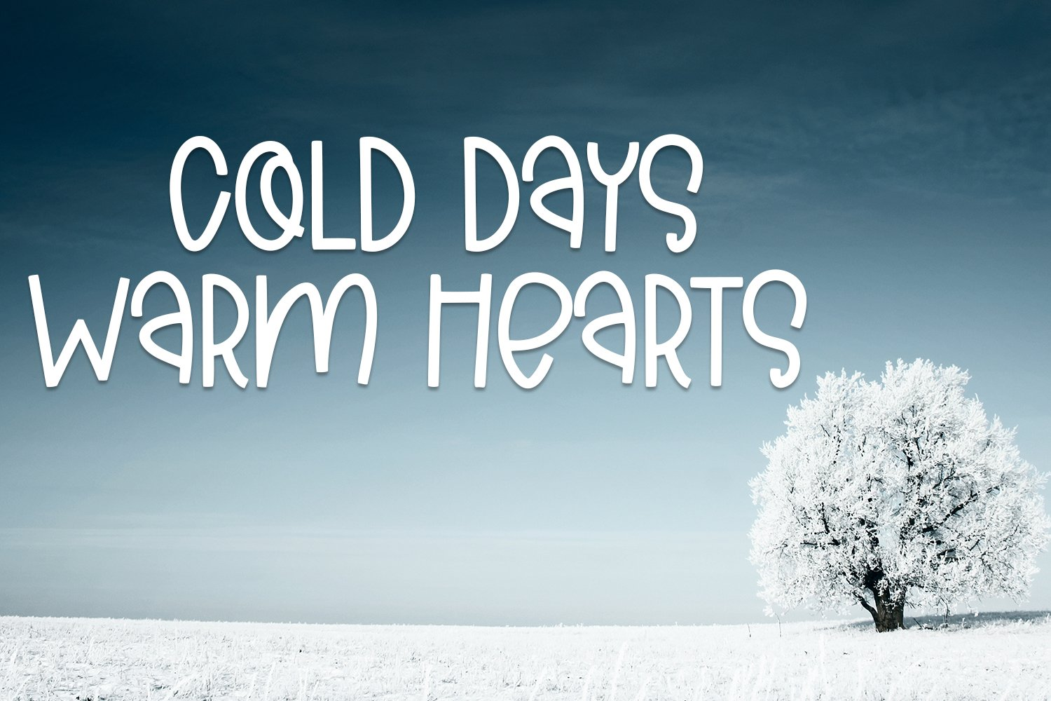 Cold Days - A Cute Hand-Lettered Font example image 2