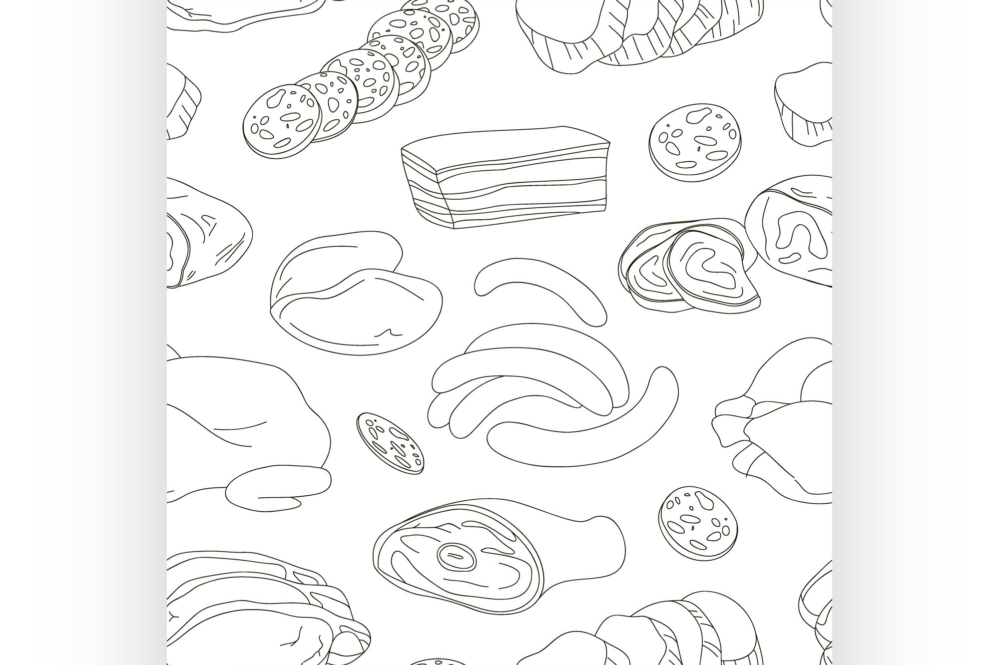 Different kinds of meat collection pattern example image 1