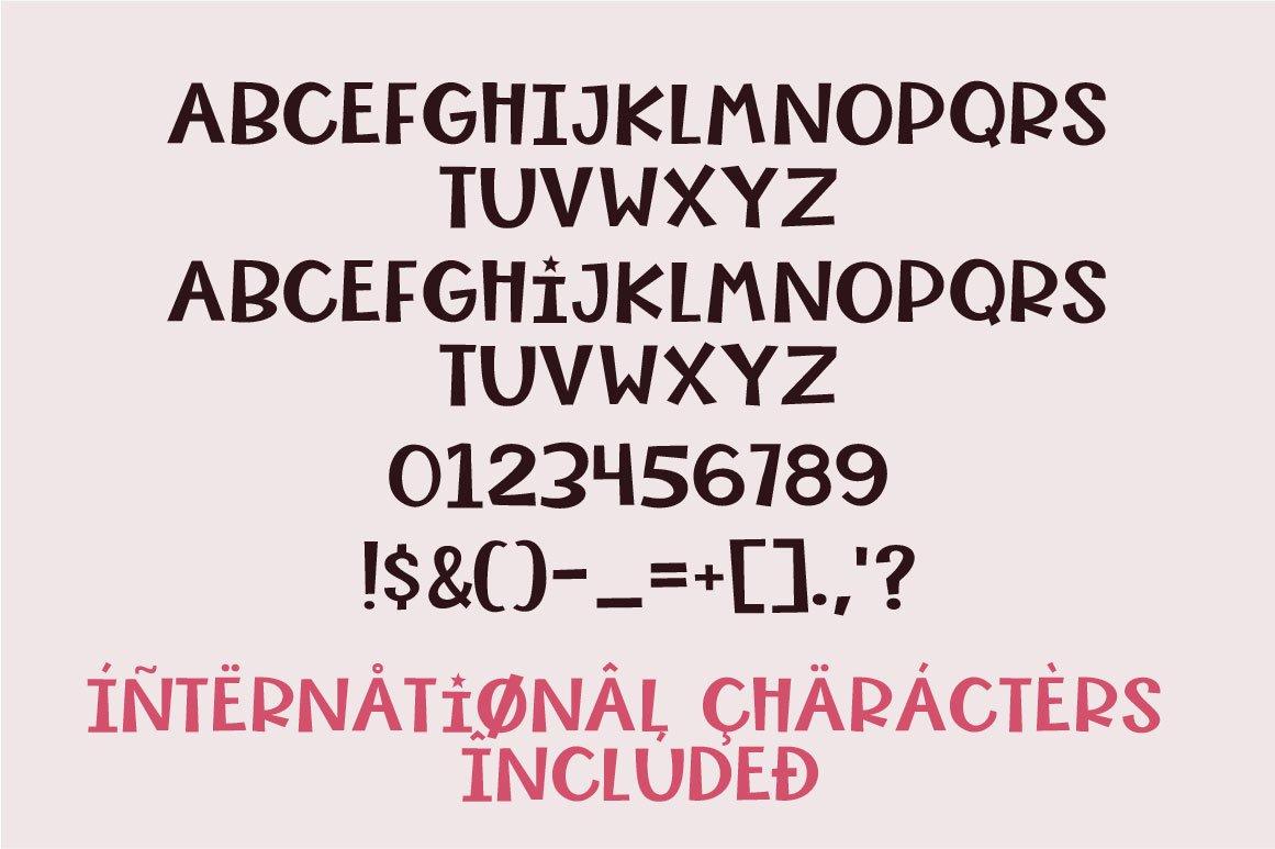 Crispy Corn, a chunky handwritten font example image 3