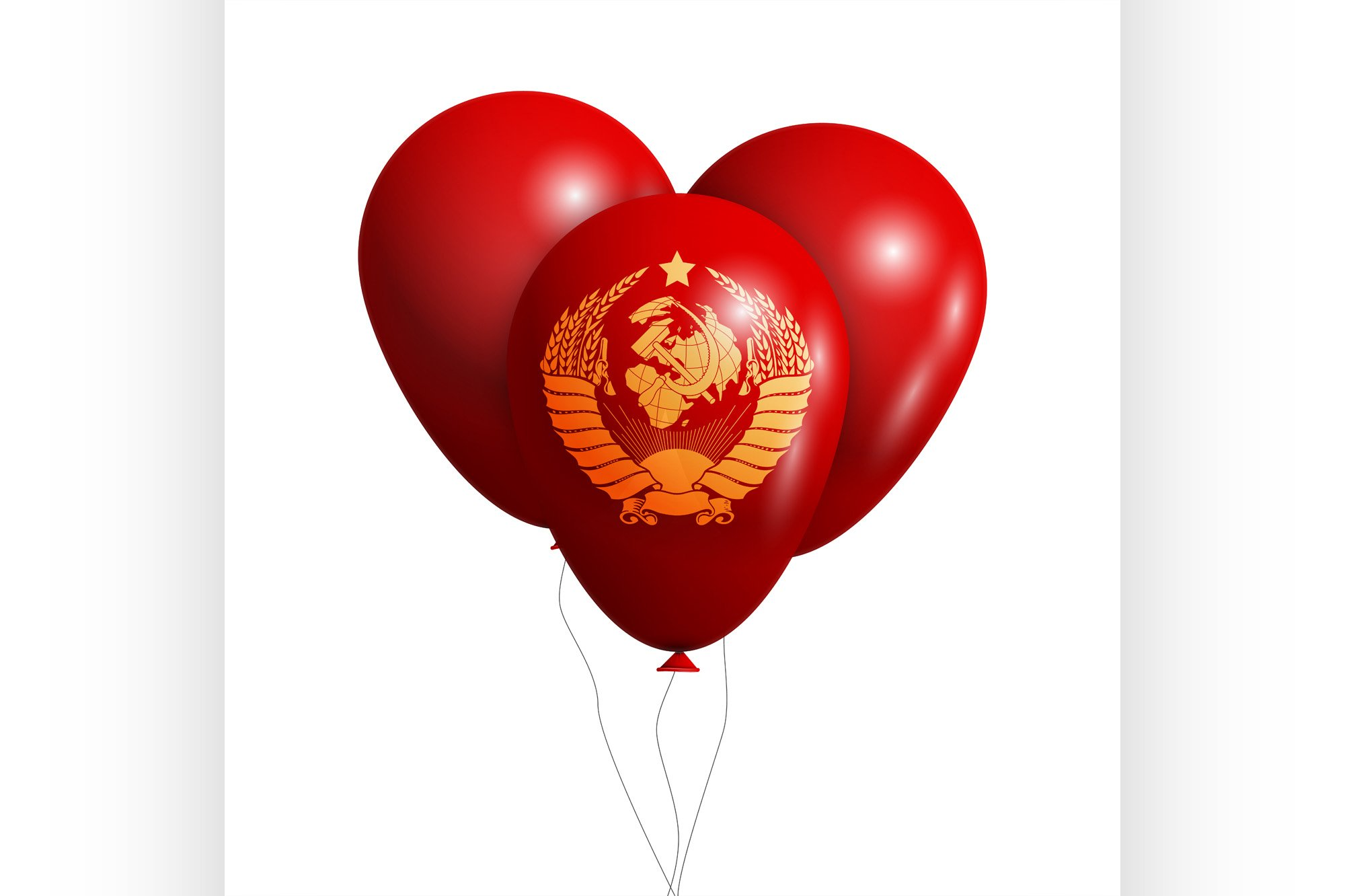 Balloons wish Coat of Arms of Soviet Union example image 1